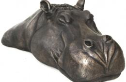 Bob's bronze head for a pond