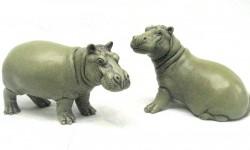Green_Portland_stone_resin_hippos