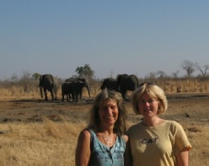me and Karen at Ganda lodge with the heird