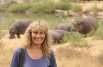 Karen Paolillo and the Turgwe Hippos July 2014