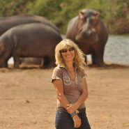Karen Paolillo and the hippos Sept 2017