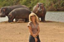 Karen Paolillo and the hippos Sept 2017