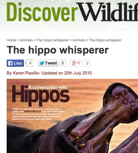 The hippo whisperer