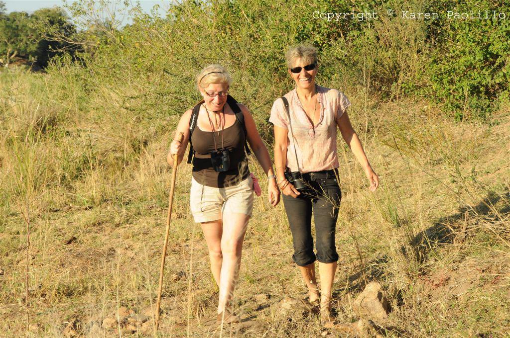 Jenny and Karen in the bush