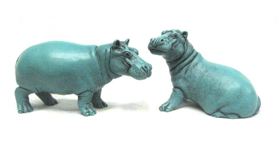 New Turgwe Hippo Trust merchandise, BonBon and Maxie ornament