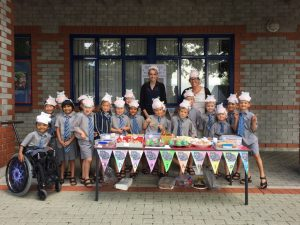 The group of kids from Southwell School, with their teachers.