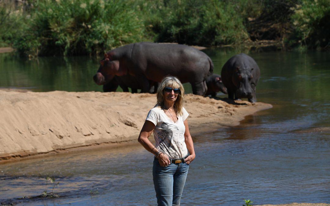 Kuchek's small family on land with Karen August 2021